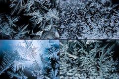 Conjunto de cristales de hielo Fotografía de archivo