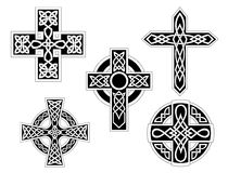 Conjunto de cruces célticas Fotografía de archivo