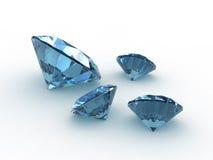 Conjunto de cuatro piedras preciosas hermosas del topaz Fotografía de archivo