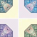 Conjunto de cuatro tarjetas Imagen de archivo