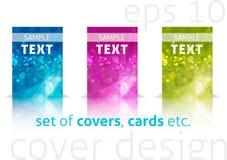 Conjunto de cubiertas coloridas stock de ilustración