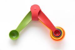 Conjunto de cucharas medidas Imagenes de archivo