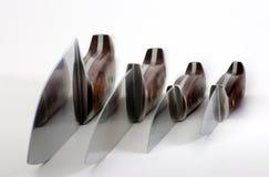 Conjunto de cuchillos Fotografía de archivo
