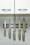 Conjunto de cuchillos Imágenes de archivo libres de regalías