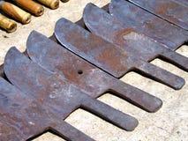 Conjunto de cuchillos imagen de archivo libre de regalías