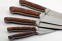 Conjunto de cuchillos en un círculo Fotos de archivo libres de regalías