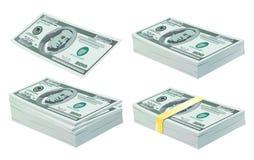 Conjunto de dólares ilustración del vector