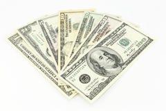 Conjunto de dólares fotos de archivo libres de regalías