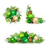 Conjunto de decoraciones de la Navidad Ilustración del vector Imagen de archivo