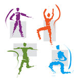 Conjunto de deportes/de iconos de las actitudes Foto de archivo