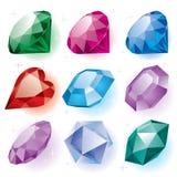 Conjunto de diamantes stock de ilustración