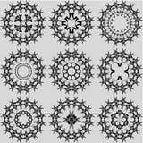 Conjunto de dimensiones de una variable abstractas Imagen de archivo libre de regalías