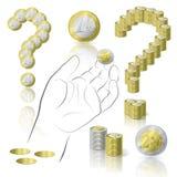 Conjunto de dinero Fotografía de archivo libre de regalías