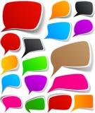 Conjunto de diseños del discurso del color. Imagen de archivo