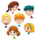 Conjunto de diversas expresiones de carácter. Fotos de archivo libres de regalías