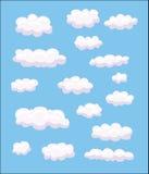 Conjunto de diversas nubes foto de archivo