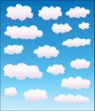 Conjunto de diversas nubes Foto de archivo libre de regalías