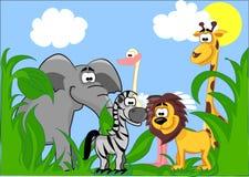 Conjunto de diversos animales lindos Imagen de archivo libre de regalías