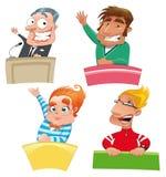 Conjunto de diversos caracteres: ilustración del vector