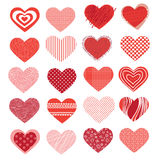 Conjunto de diversos corazones Imagenes de archivo