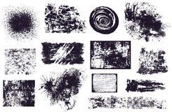 Conjunto de diversos elementos del grunge   Imágenes de archivo libres de regalías