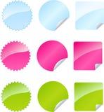Conjunto de divisas multicoloras stock de ilustración