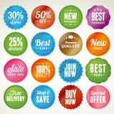 Conjunto de divisas y de etiquetas engomadas libre illustration