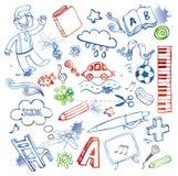 Conjunto de doodles Foto de archivo