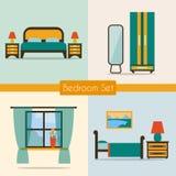 Conjunto de dormitorio con muebles Fotos de archivo