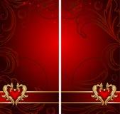 Conjunto de dos banderas verticales con dimensión de una variable del corazón. stock de ilustración