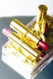 Conjunto de dos lápices labiales fotos de archivo libres de regalías