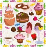Conjunto de dulces Imagen de archivo