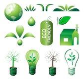 Conjunto de Eco Imagenes de archivo