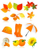 Conjunto de elemento del otoño libre illustration