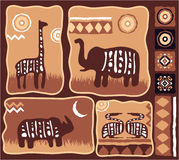 Conjunto de elementos africanos del diseño stock de ilustración