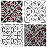 Conjunto de elementos célticos del diseño Imagenes de archivo