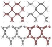 Conjunto de elementos célticos inconsútiles del diseño del vector Fotografía de archivo