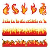 Conjunto de elementos calientes del diseño del fuego