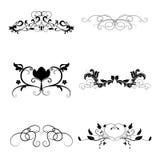 Conjunto de elementos caligráfico del diseño Foto de archivo libre de regalías