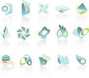 Conjunto de elementos de la insignia Fotos de archivo libres de regalías