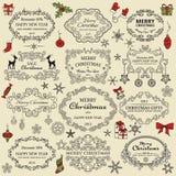 Conjunto de elementos de la Navidad Fotos de archivo libres de regalías