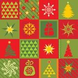 Conjunto de elementos de la Navidad Foto de archivo libre de regalías