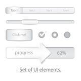 Conjunto de elementos de UI Stock de ilustración