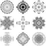 Conjunto de elementos decorativos Fotografía de archivo