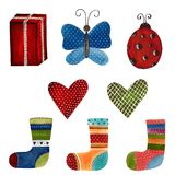 Conjunto de elementos decorativos Imagen de archivo libre de regalías