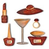 Conjunto de elementos decorativos Fotos de archivo libres de regalías