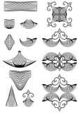 Conjunto de elementos decorativos. stock de ilustración