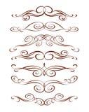 Conjunto de elementos decorativos Ilustración del vector Pozo construido para corregir fácil ilustración del vector