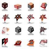 Conjunto de elementos del diseño. Imagen de archivo libre de regalías