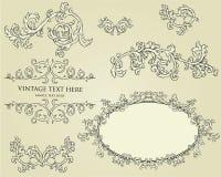 Conjunto de elementos del diseño Fotos de archivo
